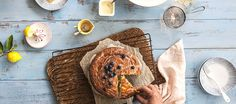 A classic French lemon yoghurt cake measured by yoghurt pottle. Lovingly created by Annabel Langbein. Gourmet Recipes, Sweet Recipes, Baking Recipes, Healthy Recipes, Baking Ideas, Us Foods, No Bake Cake, Food Print, Delish