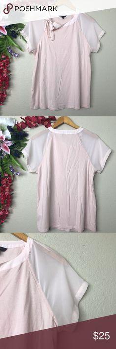 4a887beecfde8 Banana Republic factory semi sheer blush pink top Banana Republic factory  semi sheer blush pink top