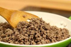 Receita de Carne Moída Refogada com Legumes