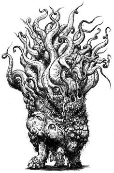 Shub-Niggurath by Nottsuo on DeviantArt Lovecraft Cthulhu, Hp Lovecraft, Arte Horror, Horror Art, Yog Sothoth, Call Of Cthulhu Rpg, Heavy Metal Art, Lovecraftian Horror, Eldritch Horror