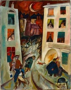 George Grosz (German, American after 1938; Expressionism, New Objectivity; 1893–1959): The Road (Die Straße), 1915