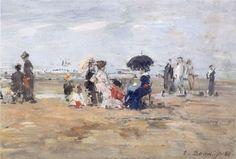 Eugène Boudin, Scène de plage à Trouville-sur-Mer