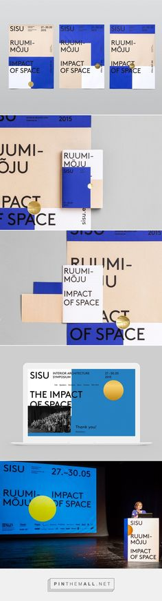 Sisu 2015 on Behance. - a grouped images picture Leaflet Layout, Leaflet Design, Ppt Design, Identity Design, Brochure Design, Visual Identity, Brand Identity, Corporate Design, Graphic Design Typography