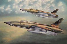 F-105G Thunderchief 'Wild Weasel', Vietnam War (Hasegawa-Revell/Monogram box art)