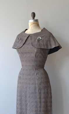 Riddingdale dress vintage 1950s dress checked by DearGolden