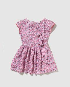 Vestido de niña Brotes con estampado floral