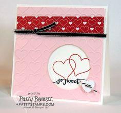 happy heart embossing folder heart card stampin up handmade valentines cardsvalentine ideasvalentine - Stampin Up Valentine Card Ideas