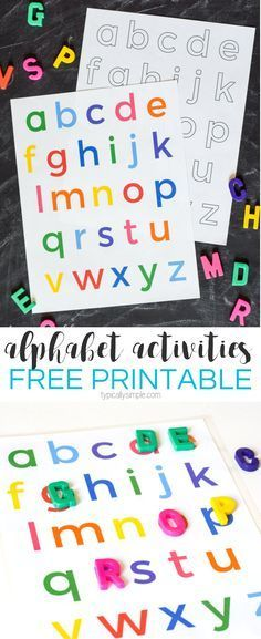 Use this free printable of the lowercase letters to help build letter awareness through alphabet activities, matching games, and more.