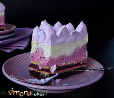 Tort Entremet cu mure si ciocolata 4 Romanian Food, Fancy Cakes, Blackberry, Mousse, Gem, Caramel, Deserts, Dessert Recipes, Ice Cream
