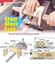 Cutting Round Tenons - Joinery Tips, Jigs and Techniques | WoodArchivist.com