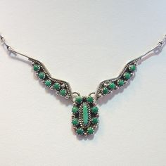 Vintage Navajo Turquoise Cluster Necklace by GregDeMarkJewelry
