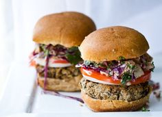 """""""the best black bean veggie burger you will ever encounter.""""  we'll have to see about that."""