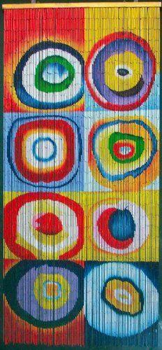 Squares & Rings - Kandinsky Beaded Curtain 125 Strands (+