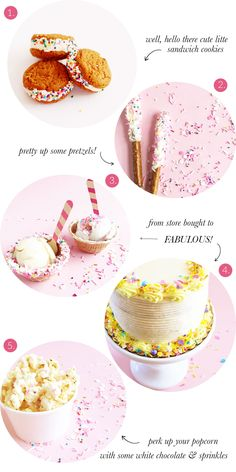 Dress Up Store Bought Treats With Sprinkles | Sweetapolita Sprinkle Mixes | The Sweet Lulu Blog