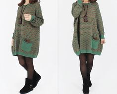 women cotton sweater dress knitwear sweater large by cottondress23