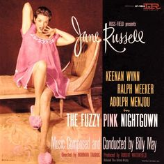 Jane Russell The Fuzzy Pink Nightgown LP Soundtrack Record 1957 Lp Cover, Vinyl Cover, Lp Vinyl, Vinyl Records, Cover Art, Greatest Album Covers, Classic Album Covers, Easy Listening, Billy Mays