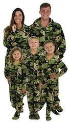 SleepytimePjs Family Matching Camo Onesie PJs Footed Pajamas