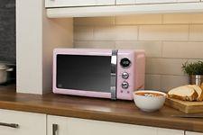 Swan SM22030PN Retro Digital Microwave, 800 W, Pink