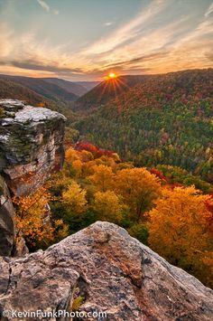 Lindy Point Sunset - Blackwater Falls State Park - West Virginia
