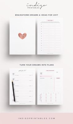 2017 Planner Goal Planner Monthly Planner 2017 Weekly