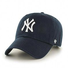New York Yankees 47 Brand Navy Home Clean Up Adjustable Slouch Hat Cap Yankees Outfit, Yankees Hat, New York Yankees Baseball, Baseball Caps, Baseball Tickets, Yankees Logo, Baseball Helmet, Baseball Gloves, Baseball Display