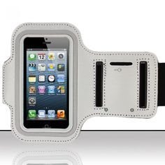 APPLE IPHONE 5 CUTE GREY ARM LEATHER EXCERCISE BAND BELT