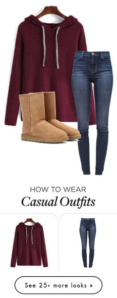"""""""Casual"""" by ehansen1-20 on Polyvore featuring J Brand and UGG Australia #fashionsecretstipsstyle"""