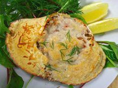 Krabbe gratinert i ovnen med et dryss parmesan, skikkelig kosemat!