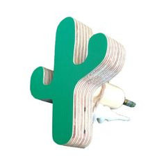 The Hook Co Little Wooden Cactus Hook   Green U2013 My Messy Room