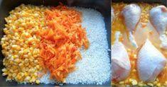 NapadyNavody.sk | 15 najlepších receptov na rýchle obedy z jedného pekáča Baked Chicken Legs, Carrot Fries, Long Grain Rice, Canned Corn, Czech Recipes, Dry Mustard, Frying Oil, Meat Chickens, Marinated Chicken