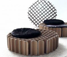 Albero stilizzato in cartone con mensole espositive - Mobili in cartone pressato ...