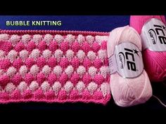 Bubble Knitting | 2 Color Pattern - YouTube