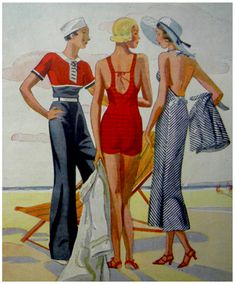 1930S BEACH & LOUNGING PYJAMAS