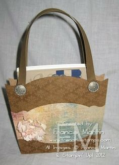 Stamp & Scrap with Frenchie: Purse with Edgelits