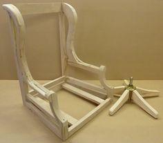 JR Swivel Desk Chair Frame