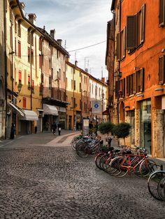 "Via Mazzini in Ferrara ""the city for cyclists"" Italy - #Yamadu for your vacation Rental in Ferrara..."