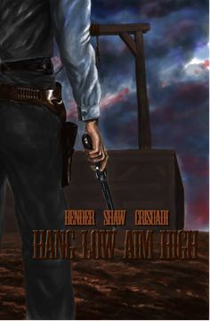 "One of the cover projects for Kelly Bender's western story ""Hang Low Aim High"" . The cover is made in Photoshop with electronic drawing tablet"