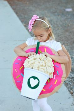 Who does't love a yummy donut and coffee with extra whip? Showing you how to whip up a DIY Coffee & Donut Costume today.