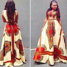 Ankara Maxi Dress~African fashion, Ankara, kitenge, African women dresses, African prints, Braids, Nigerian wedding, Ghanaian fashion, African wedding ~DKK