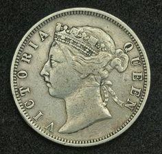 Hong Kong Cents Silver Coin Queen