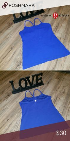 SALE!!!! Lululemon top. Good condition. Beautiful color!!! Removable padding slots.  I have several Lululemon workout tops, gear.  I will be adding more today and tomorrow. Bundle to save on shipping and get a 10% discount. lululemon athletica Tops