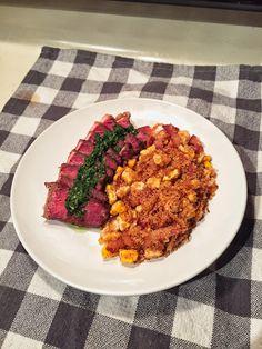 Steak with Chimichurri Sauce & Farofa [OC] [2448x3264] #foodporn #food #foodie #yummy #yum #foodgasm #nomnom #delicious #recipe
