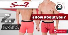 Lo mejor viene en paquete de dos. #Rounderguys #Rounderwear #Undies #Underwear #Seven7 #Basic #Colors
