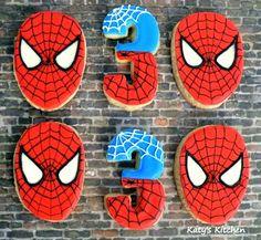 Katy's Kitchen: Spiderman Cookies for a Oldman ítem de la 3 Year Old Birthday Party Boy, Birthday Gag Gifts, Birthday Cookies, 3rd Birthday Parties, Birthday Fun, Birthday Sayings, Third Birthday, Birthday Images, Birthday Greetings