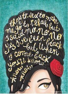 DIY Decoração: Posters para imprimir 3:                                                                                                                                                                                 Mais Amy Winehouse Lyrics, Amy Winehouse Quotes, Rehab Lyrics, Typography Poster, Typography Served, Design Design, Grid Design, Creative Design, Wine Shipping