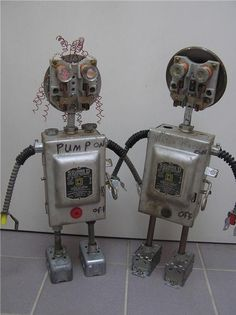 Robot Metal Found Object Art Assemblage Art It Is by thejunknut, $300.00
