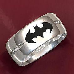 Holy Awesome Wedding Ring Batman Batman wedding rings Batman