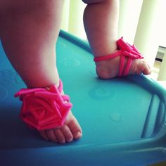 Baby Barefoot Sandals  Baby Girl  Toddler Girl  by BrynnandBriella
