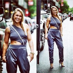 NYC summer outfit on the way to #UFCFightKit unveiling - Lovin' this jumpsuit I got from @alejandroperazastyle, you really make it fun to get girlie