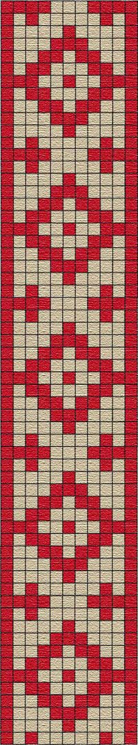 FREE PATTERN for tapestry crochet : Guarda pampa (pattern from Argentina) Tapestry Crochet Patterns, Crochet Motifs, Bead Loom Patterns, Peyote Patterns, Weaving Patterns, Crochet Chart, Cross Stitch Patterns, Tablet Weaving, Inkle Weaving